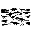 Different dinosaur silhouettes