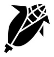 eco corn icon simple style vector image vector image