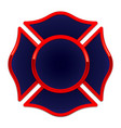 fire rescue logo base dark blue with red trim vector image vector image