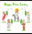 flat design happy palm sunday vector image