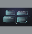 futuristic callout bar labels set hud vector image