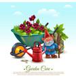 garden maintenance composition vector image vector image