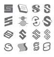 Geometric shapes for S letter logo and monogram vector image