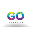 go g o colorful letter origami triangles design vector image vector image
