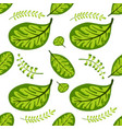 green leaf seamless spring-summer pattern vector image