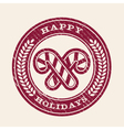 Grunge Happy Holidays Emblem vector image vector image