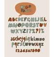 Hand drawn retro color font vector image