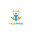 happy people logo sign symbol icon vector image