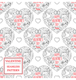Happy valentines day Valentine seamless pattern T vector image vector image