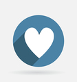 heart Circle blue icon with shadow vector image