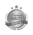 high quality metal silver sign round label vector image vector image