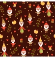 Holiday card with cute gnomes vector image