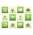 hotel motel and holidays icons vector image