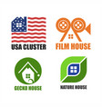 house logo unique set design vector image