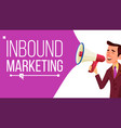 inbound marketing banner business vector image