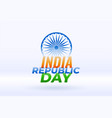indian happy republic day holiday background vector image