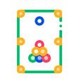 interactive game billiard thin line icon vector image vector image