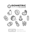 Isometric outline icons set 36 vector image vector image