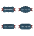 Labor Day realistic paper Banners Set vector image vector image