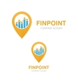 logo combination of a graph and map vector image vector image
