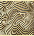 luxury gold background wavy gold landscape vector image vector image