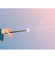 Magic wand Magic stick in hand vector image vector image