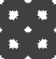 Maple leaf icon Seamless pattern on a gray vector image vector image