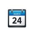 March 24 Calendar icon flat vector image vector image