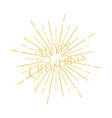 merry christmas inscription sunburst vector image