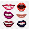 mouth expressions realistic transparent vector image