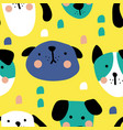 new dogs pattern vector image vector image