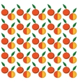 orange citrus seamless pattern vector image vector image