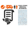 patent icon with 1300 medical business icons vector image vector image