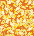 Pattern with yellow orange flowers vector image