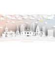 phnom penh cambodia city skyline in paper cut vector image