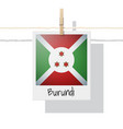 photo of burundi flag vector image vector image