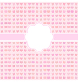 Pink cute card with hearts vector image vector image