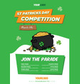 pot gold flyer template vector image vector image