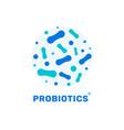 probiotic bacteria logo bifidobacteria vector image vector image