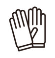 protective gloves icon vector image vector image