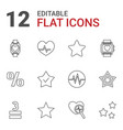rate icons vector image vector image