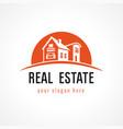 real estate logo sun vector image
