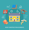 roofer flat composition vector image vector image