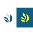 round stripe letter v logo vector image