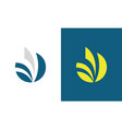 round stripe letter v logo vector image vector image