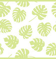 seamless pattern of green monstera leaves vector image vector image