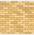 Seamless Pattern of Yellow Brick with Dark Seam vector image vector image