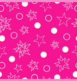 seamless pattern - stars in pink background vector image vector image
