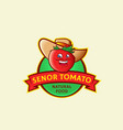 senor tomato abstract sign symbol or logo vector image