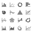 set chart icons vector image